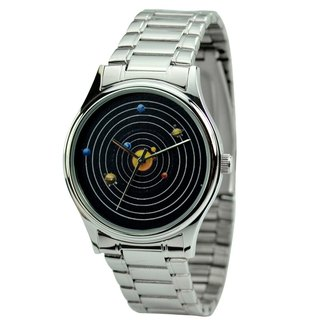 Solar watch with steel - Free Shipping