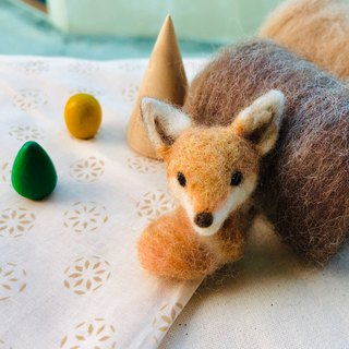 seamade - wool felt fox brooch/pin