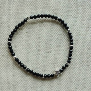 ~ M + Bear - Dark Star Sterling Silver & amp; Black Onyx (jade with)