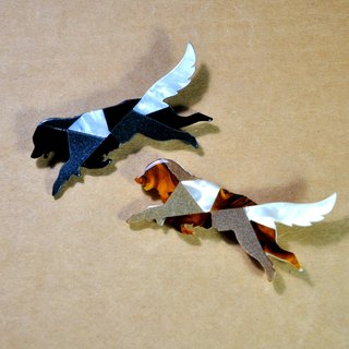 Flying Dog < mosaics brooch >