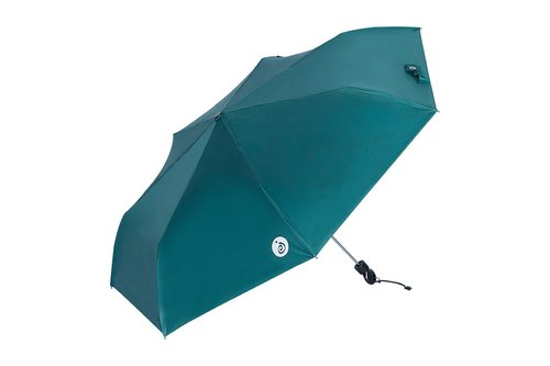 Three fold ultra-fine automatic opening sunny umbrella - pine green (not through the umbrella cloth)