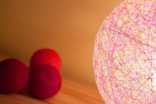 Spring Scream] [hand-woven ball lampshade