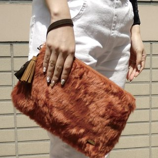 [DUAL STYLE] Japanese texture ladies Clutch (square)