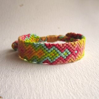 Spray lucky rope woven bracelet (optional color)