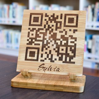 [Open shop small things] Customized Qrcode Signature log signboard shop necessary