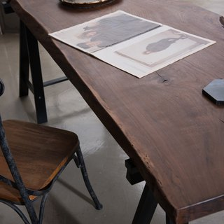 Xi Shan Kobo - Walnut - solid wood coffee tables, side tables, long tables, dining table (180x60x6) - a solid wood logs