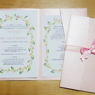 [MYLOVEHK] Exclusive orders - Western-style hand-painted Wedding Invitation