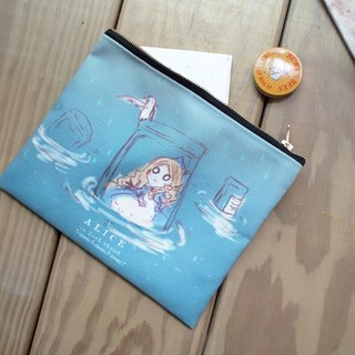 Portable canvas zipper bag ▌ ▌ Alice in Wonderland Lei Yu pool