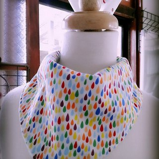 Raindrops triangle scarf / bibs