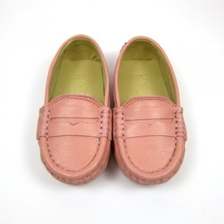 Fort Tony Wang leather handmade shoes kids [sheep / bean bottom / pink]