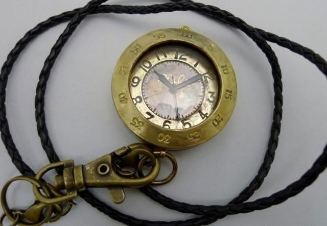 "Handmade watch HandCraftWatch ""Biggie Flashlight"" JUMBO pocket watch [JUM109]"
