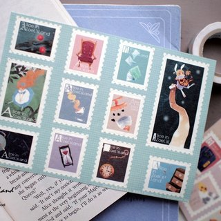 Fake stamps and paper sticker*jump into the rabbit hole*The first chapter of Alice in Wonderland
