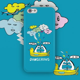 ▷ Umade ◀ LOVE IS SO DANGEROUS [iPhone7 (i7, i7plus, i6, i6s, i6plus, i6splus, i5se, i5s, i5c,) / Android (Samsung, Samsung, HTC, Sony) Phone Case / Accessories -! Matte hard shell - artists] PONGA HUANG