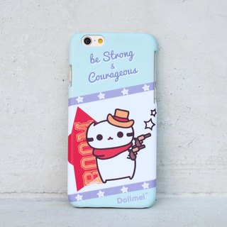 Dollmei phone shell customized strong and courageous cowboy _ _ _ blue cute cat mobile phone shell iPhone 6 / plus 5s / 5 / 5c