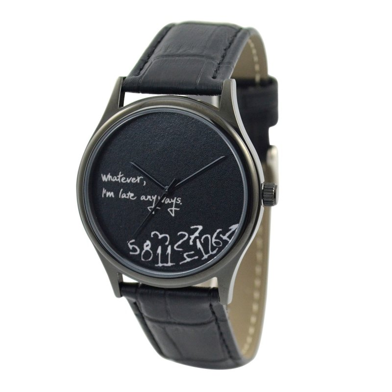Christmas gift - how late watch (black face) black shell - Neutral - Global Free transport