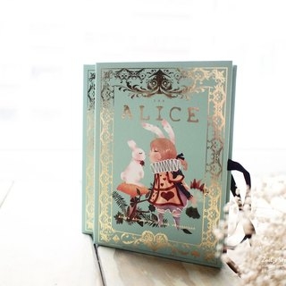Hardcover book retro cassette ▌ZoeL x Alice in Wonderland rabbit lover paragraph ▌