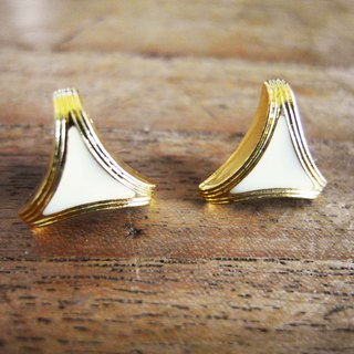 Time Travel【vintage handmade pin earrings :Triangle】