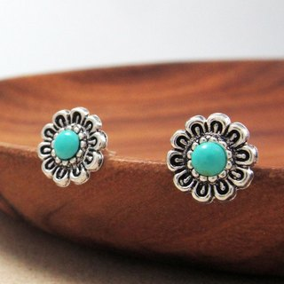 Earrings Retro Style - Turkish Flower 925 Sterling Silver Earrings Retro Ethnic Style - ART64
