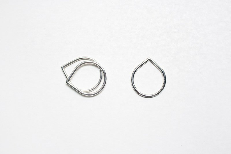 Combination series - free combination of drop-shaped sterling silver ring / sterling silver