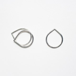 Combination Series - Free Combination Drop Shaped Sterling Silver Ring / Sterling Silver
