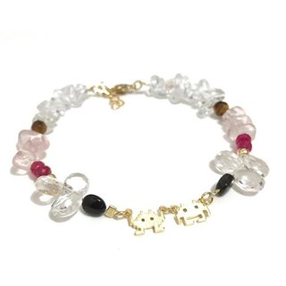 Pretty Mixed Natural Stone Bracelet