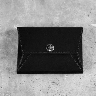 Business card holder . coin purse  (black) washable kraft paper  .paper leather