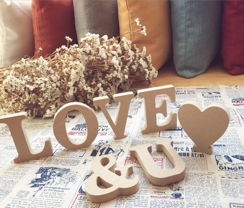 Pine English letters / home decorations / wedding arrangements wedding / shooting props / signs / Zakka / wood