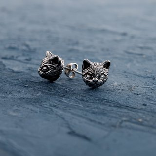 ▽-Cat Earring -▽925 silver