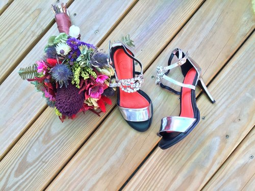 ☆ big day ☆ about life in the big day series # 943 || || retro matte silver high-heeled wedding shoes