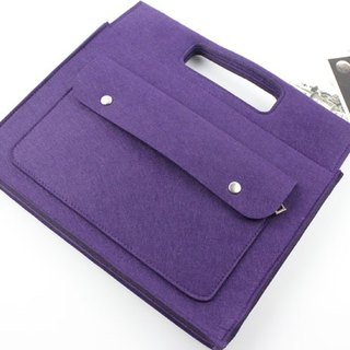 "Limited Time Only This is a sold-to-date Purple Felt Apple Handle Computer Case Blouse Set MacBook 13-inch Laptop Bag MacBook 13.3 ""Air"