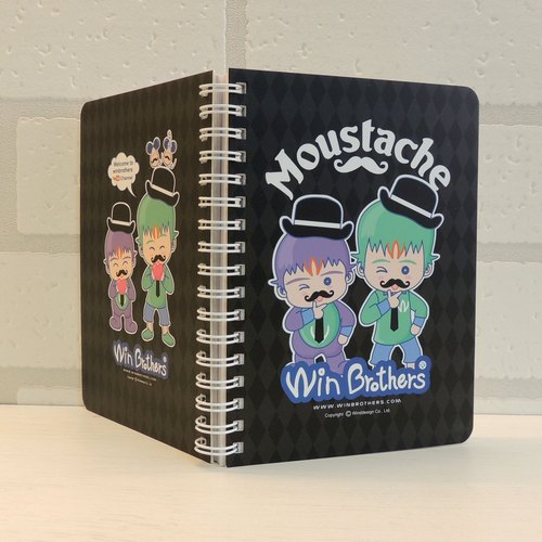 Two brothers, Qiao Yun beard notebook winbrothers notebook (moustache)
