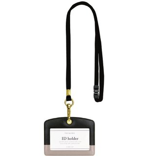 Japan [LABCLIP] Prendre Series ID holder ID holder (with lanyard) black