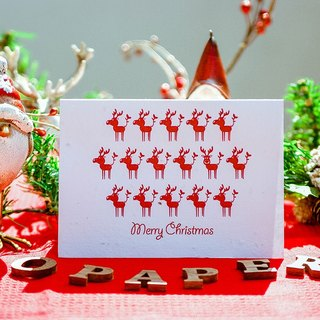 Merry Christmas Seed Paper Christmas Card (Elk Moose)