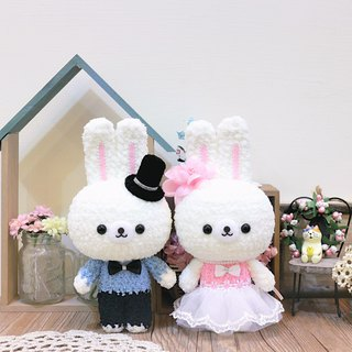 Hairy rabbit doll - couple. birthday present. Wedding Gifts