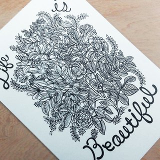 Chienchien - Life Is Beautiful ! - Illustrator Postcard / Card