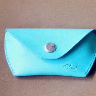 Limit the amount of hand-Italy advanced turquoise leather purse card holder