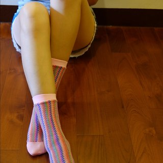 Moya knit tube socks pink sweetheart
