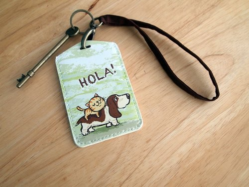 Multi-function card holder key ring -Hola! Bagty
