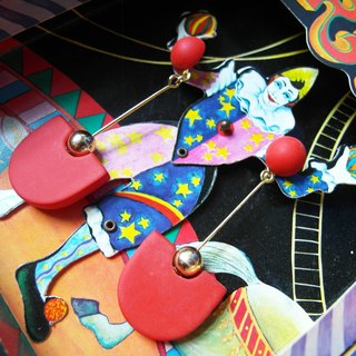 Time Travel【vintage pin earrings:Dance of Fire】