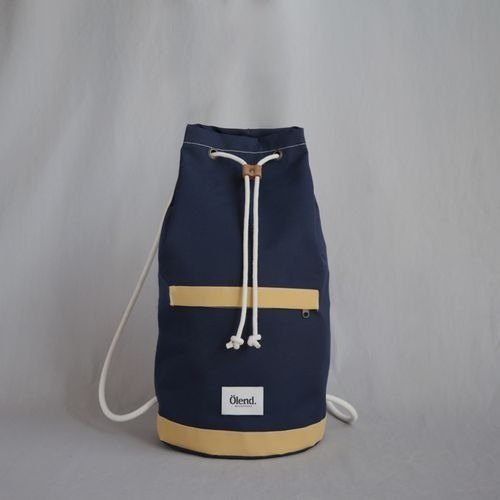 [100% handmade in Spain] Ölend Tramuntana Fabric | Drawstring backpacks (Navy)