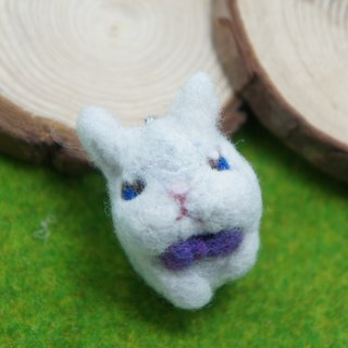 Wool felt cute bunny rabbit peeps you pin / brooches custom