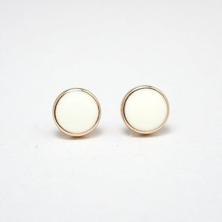 Circle dot Crab Eye White Stainless Steel Earrings Earrings Earrings 001