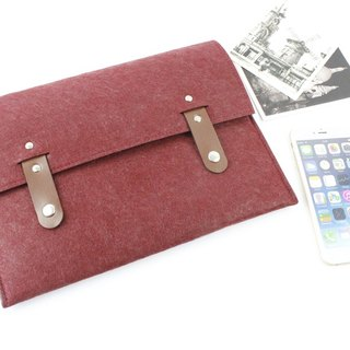 "Original pure hand red plus purple blankets Apple computer protective cover blankets 12-inch laptop bag computer bag Macbook 12 ""(can be tailored) - ZMY078WR12A"