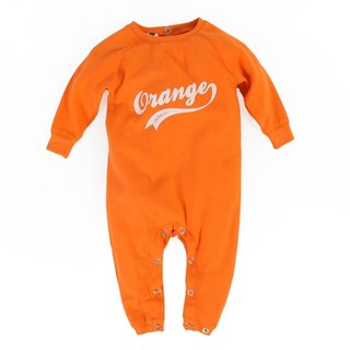 [Nordic children's clothing] Swedish organic cotton open buckle fart suit orange