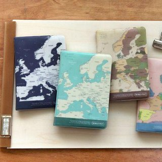 Indigo- World Map Passport Cover - Mint Green, IDG02794