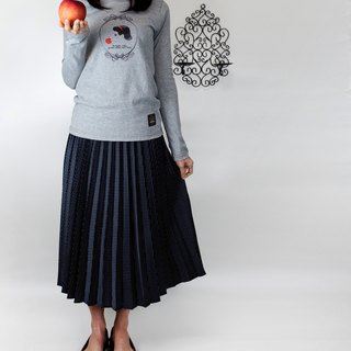 Figure Cable creative melange long-sleeved TEE original sanding pattern - Snow White spring market