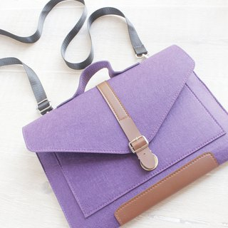 "Handmade Purple Felt Shoulder Strap Computer Bag Macbook Air 13.3 ""Protective Case Blanket Set Macbook 13"" Laptop Bag (Customizable) - ZMY054PU13A"