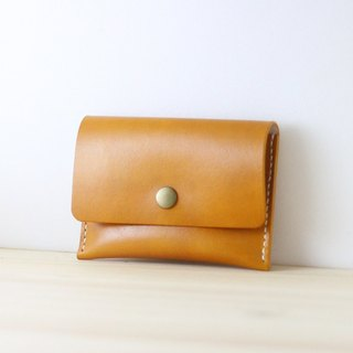 LION's Handmade Leather -- Coin Purse / Card Case ( Yellow )