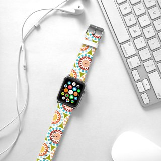 Apple Watch Series 1  , Series 2, Series 3 - Mandala Colorful Floral pattern Watch Strap Band for Apple Watch / Apple Watch Sport - 38 mm / 42 mm avilable