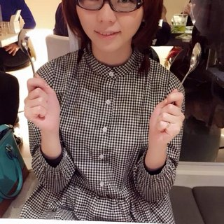 ~ Re: i fashion studio ~ retro black and white checkered shirt collar, Zhongshan Dress